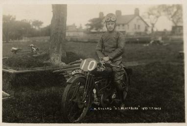 A.M.Sheard poses aboard O.C.Blackburn machine number 10 (registration…