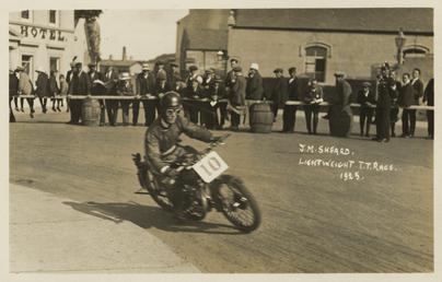 T.M.Sheard aboard machine number 10, 1925 Lightweight TT…