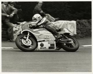 Alex George aboard Honda machine number 9, on…