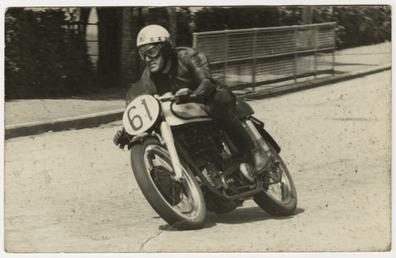 Ray Amm aboard Norton number 61, winner of…
