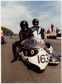 Machine number 163, 734 DFD/BMW sidecar outfit, rider…