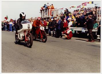 Arthur Wheeler aboard machine number 8, 350cc Moto…