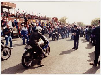 Machine 137: 350cc Manx Norton, rider Adam Easton,…