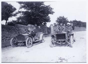 Rolls Royce motorcars outside Woodlands, Alexander Drive, Douglas,…