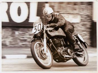 Derek Ennett aboard AJS number 30, Glencrutchery Road,…