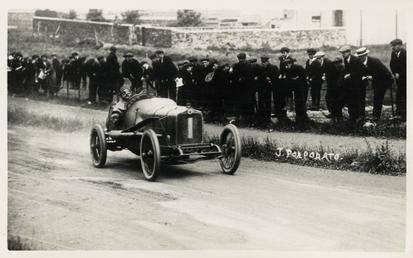 Motorcar no.1 Jean Porporato in a Minerva, 1914…