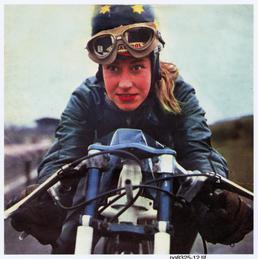 Beryl Swain, TT (Tourist Trophy) rider, in racing…