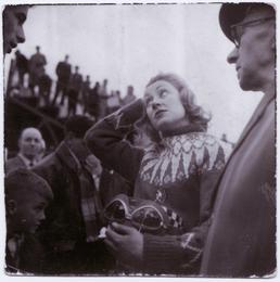 Beryl Swain, TT (Tourist Trophy) rider, at Grandstand…