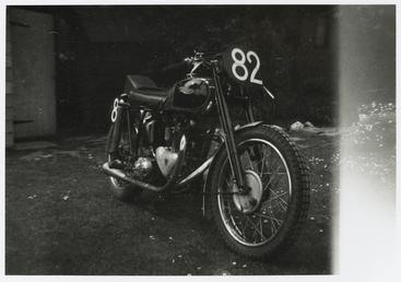 Triumph number 82, ridden by Robin Sherry, TT…