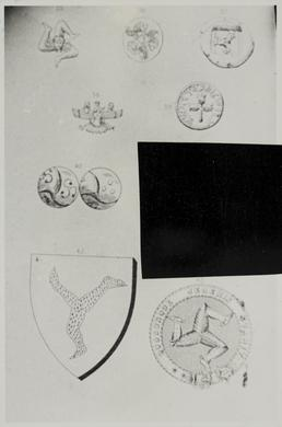 Photograph of sketches of the evolution of the…