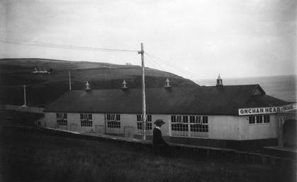 Pavillion style building on Onchan Head with lettering…