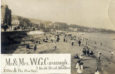 Greeting card using sepia photograph of  Douglas shore