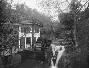Groudle Glen waterwheel and wheelhouse