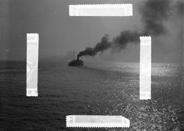Steamship at sea