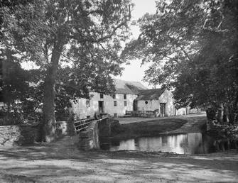 Ballasalla mill with ford and bridge in foreground