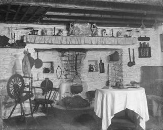 Interior of farmhouse kitchen in the Lower Folk…