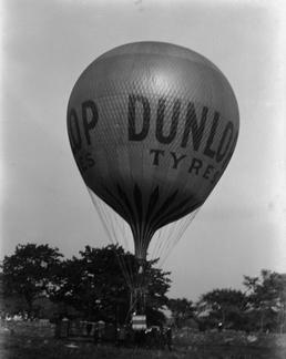 The Dunlop Balloon, inflated and on the ground…