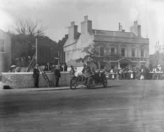 T C Pullinger's 16hp Beeston-Humber cornering Parliament Square,…