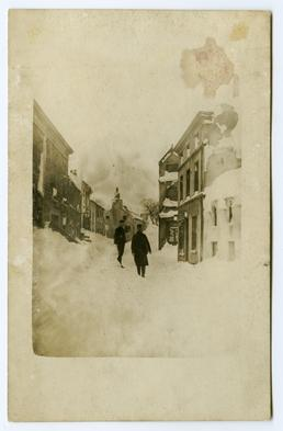 A Peel Street in the snow, Athol Place…