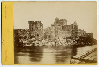Peel Castle, prior to the restoration of the…