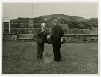 Éamon de Valera at Tynwald Hill