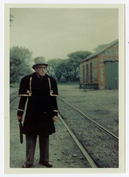 Mr A.C. Garrard at Castletown Station