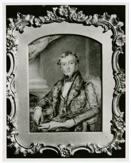 Edward Moore Gawne - photograph of miniature portrait