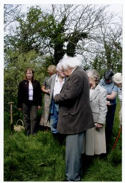 Mourners (including Bernard Cain and Fiona McArdle) at…
