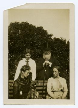 Archdeacon Kewley with Dorothy, Sybil and Maud