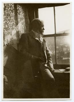 Archibald Knox in his studio