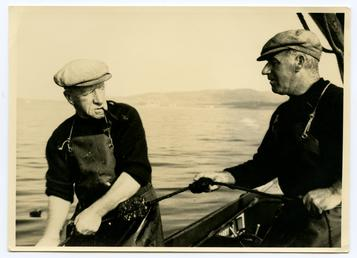 Willie and Freddie Kneen out sea fishing