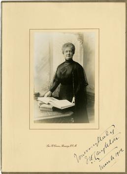 Mrs Florence Laughton - framed studio portrait