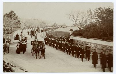 Funeral of Speaker Moore (b.1853-d.1909)
