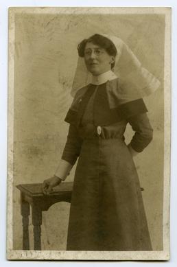 Matron Annie Proctor in uniform