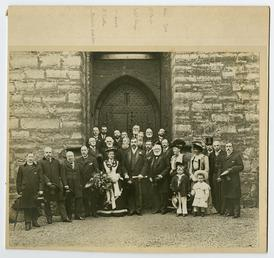 Lord Raglan and group at Castle Rushen