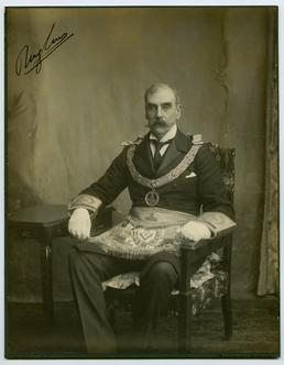 Lord Raglan in Freemason outfit