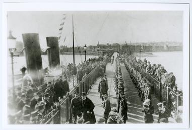 Lord Raglan with military guard of honour, Douglas…