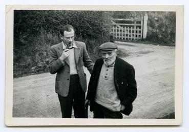 Photograph of John Kneen (Yn Gaaue) and J.W.Radcliffe