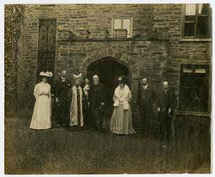 Bishop Straton at Bishopscourt, with group including Lord…