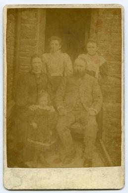Cornelius Squires (schoolmaster Port St Mary) and family