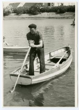 Sculling on Mooragh Lake, Ramsey