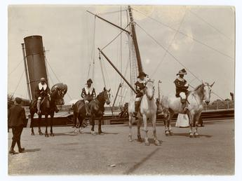 Oddfellows Parade in Ramsey - riders in fancy…
