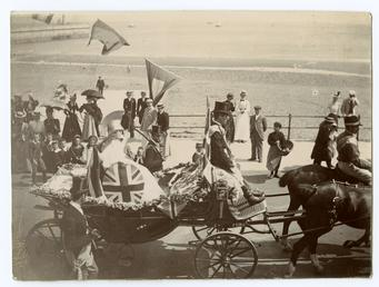 Oddfellows Parade in Ramsey - Brittania in horsedrawn…