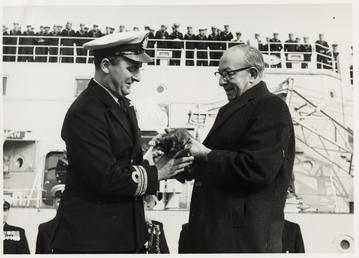 Re-commissioning of H.M.S. 'Manxman'