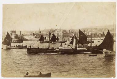 Fishing boats and paddle steamer, from the Douglas…