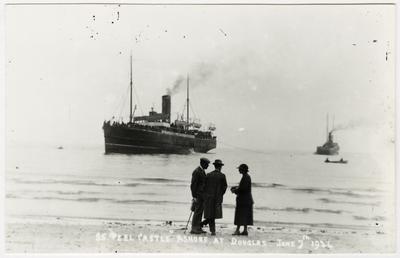S.S. 'peel Castle' ashore at Douglas