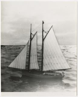 Model of the 'Peggy' at Port St Mary…