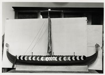 Manx Museum model of the Viking longship Gokstad