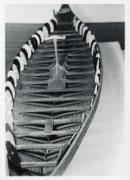 Interior view of a Viking model ship