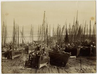 Fishing fleet, Port St Mary Harbour, Isle of…